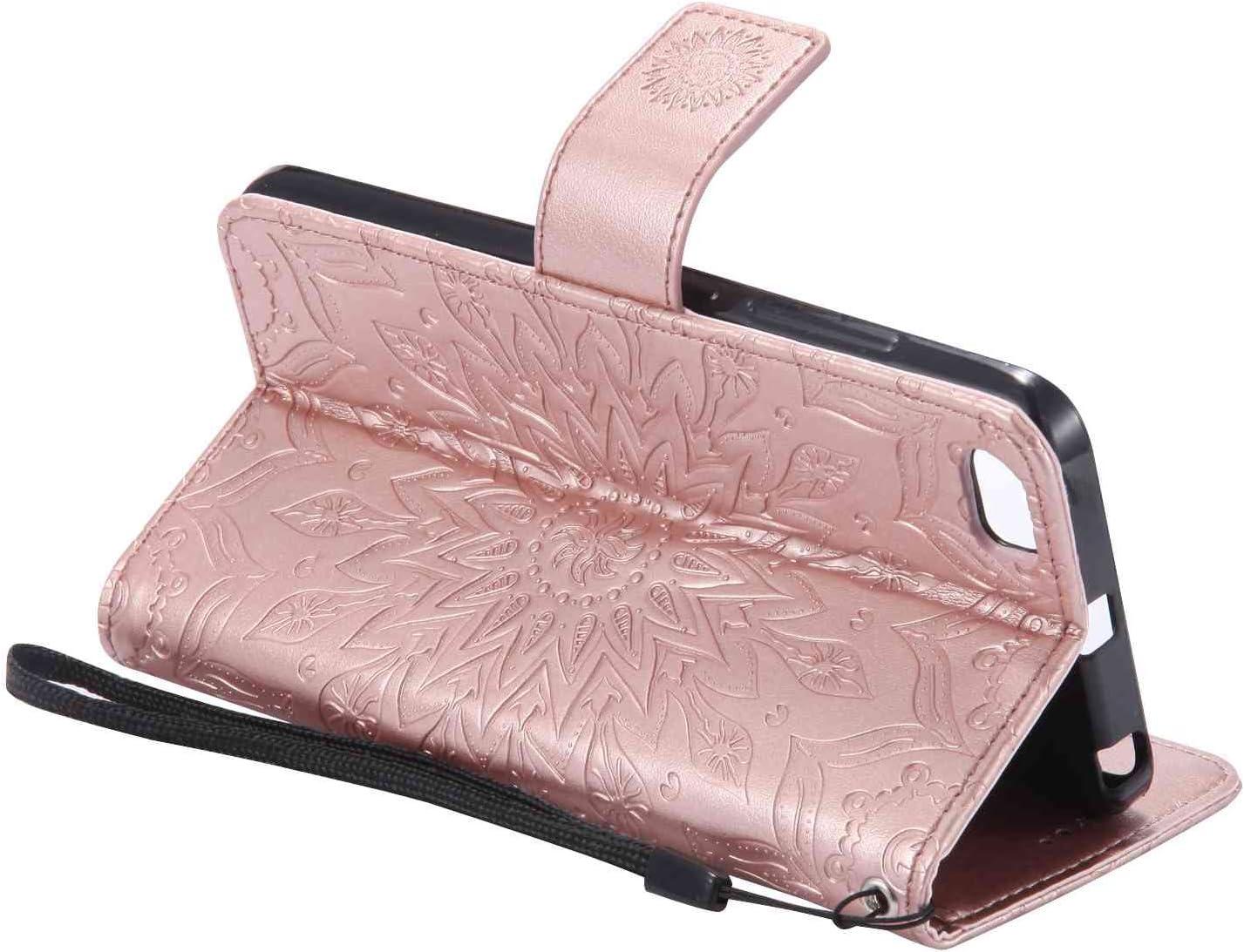 Guran® Funda de Cuero Para Xiaomi Mi5 Smartphone Función de Soporte con Ranura para Tarjetas Flip Case Cover-oro rosa: Amazon.es: Electrónica