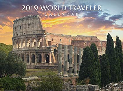 2de877922b1c Image Unavailable. Image not available for. Color  2019 World Traveler Wall  Calendar