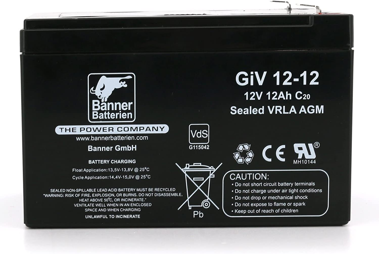 Banni/ère Batterie Stand By Bull 12/V//12ah type Giv 12 12