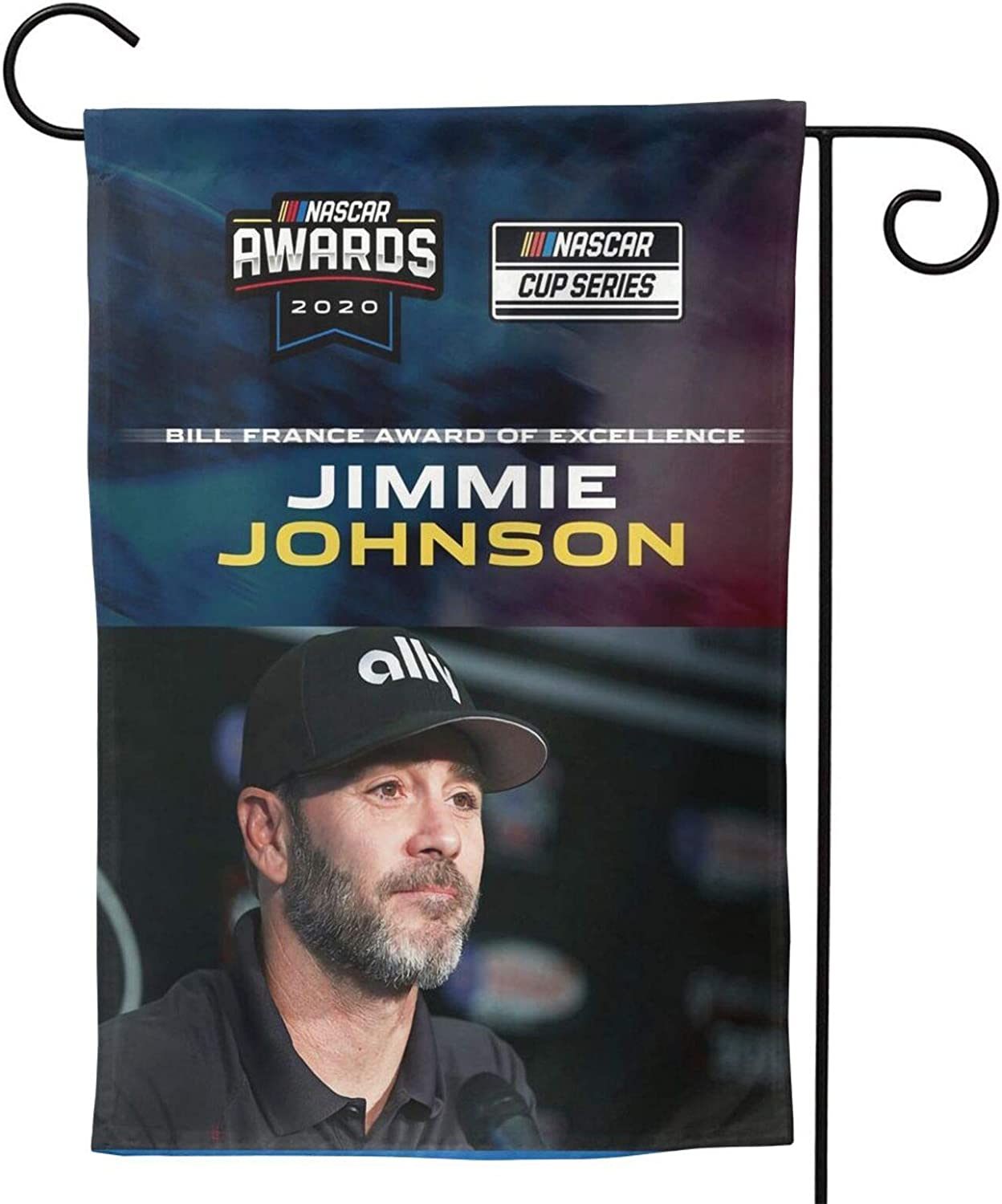 FGHFGHF Jimmie Johnson Bill France Award of Excellence Garden Flag Vertical Double Sided Spring Summer Yard Outdoor Decorative
