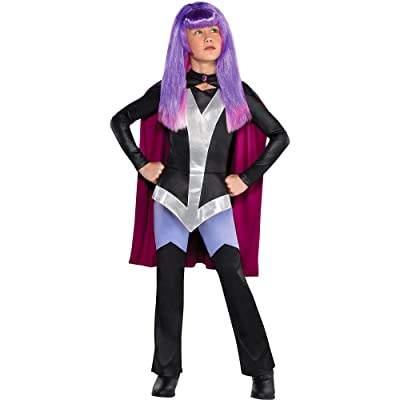 Party City Zatanna Halloween Costume for Girls, DC Super Hero Girls, Medium, Includes Cape: Clothing