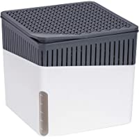 Wenko 50220100 Design Raumentfeuchter Cube 1000 g Luftentfeuchter, Fassungsvermögen 1.6 L, Ø 16.5 x 15.7 cm, weiß