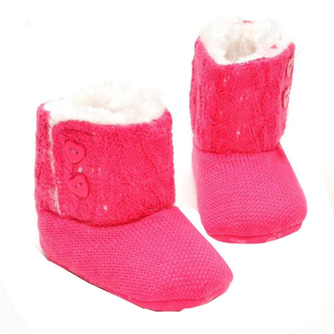 Tefamore Zapatos de Niño Prewalker Invierno Soft Sole Crib Botones de Botón Caliente Boots de Algodón para Bebés Tefamore-641265
