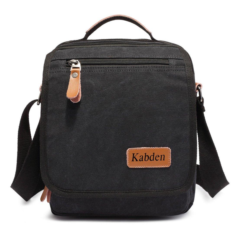 Sechunk Small Canvas Messenger Bag For Men Women Ipad Outdoor Leisure (black)