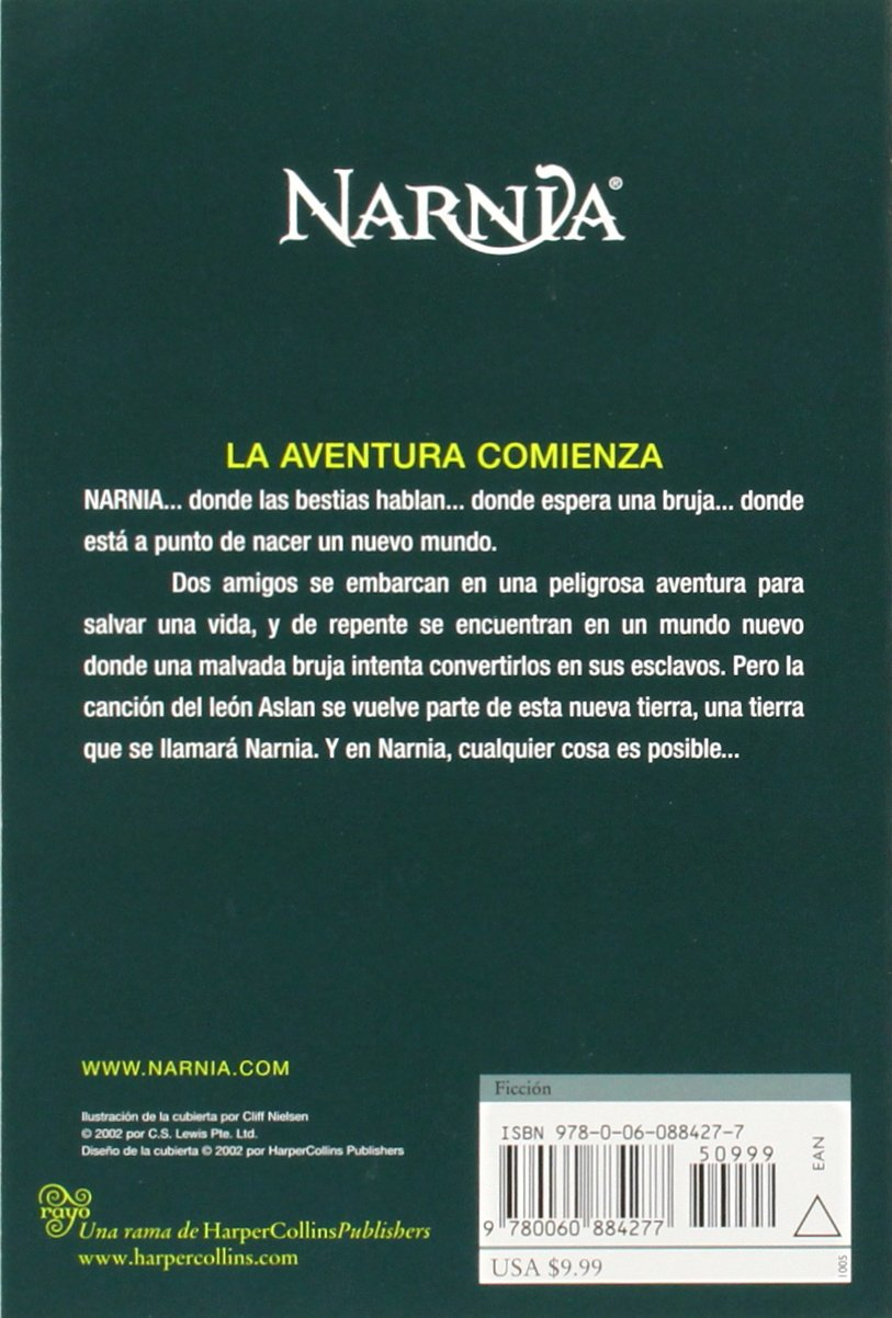 El Sobrino del Mago (Cronicas de Narnia) (Spanish Edition): C. S. Lewis: 9780060884277: Amazon.com: Books