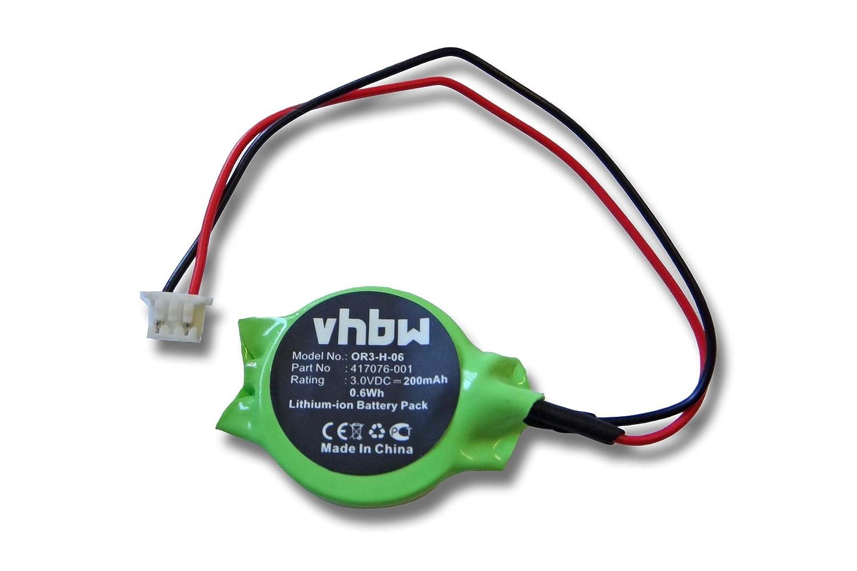 vhbw Bios Batterie Notebook HP Compaq Presario CQ60-320SA, Compaq Presario CQ70, Compaq Presario CQ50 wie 417076-001 23.22047.001 23.22049.001. VHBW4251156529723
