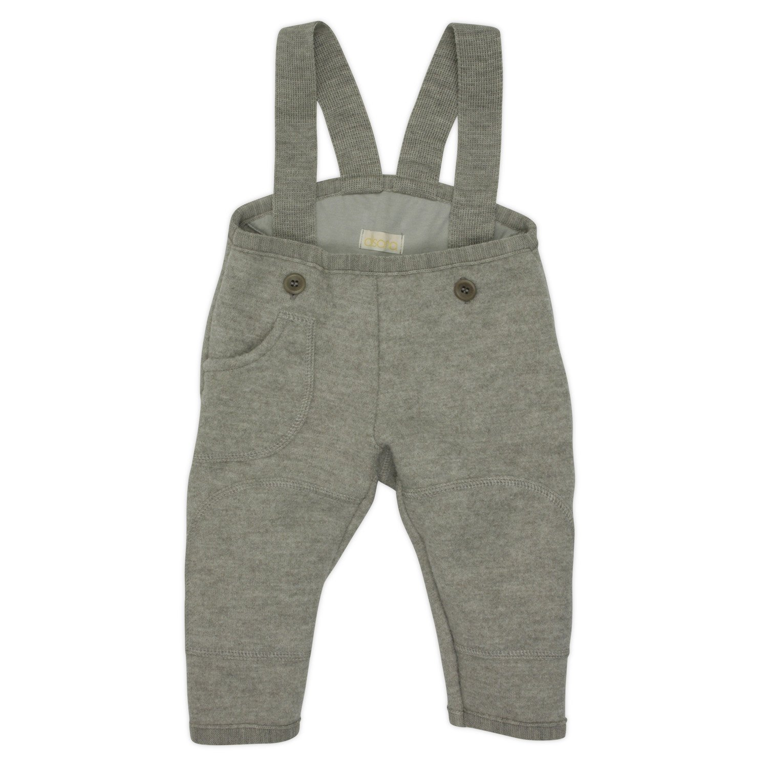 Baby Dungarees / Trousers in Organic Boiled Merino Wool Grey 74/80 6-12m Disana 26544-082-00550-21