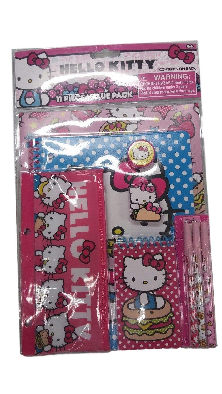 Hello Kitty White Polka Dot 11pc Stationery Set