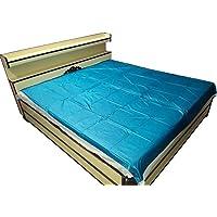 Deerosita™ Baby Plastic Sheet/Mattress Protector Sheet,Waterproof Bedsheet (6.5 Ft x 6 Ft) Plastic/PVC (Random Color Will be Sent As per Availability)