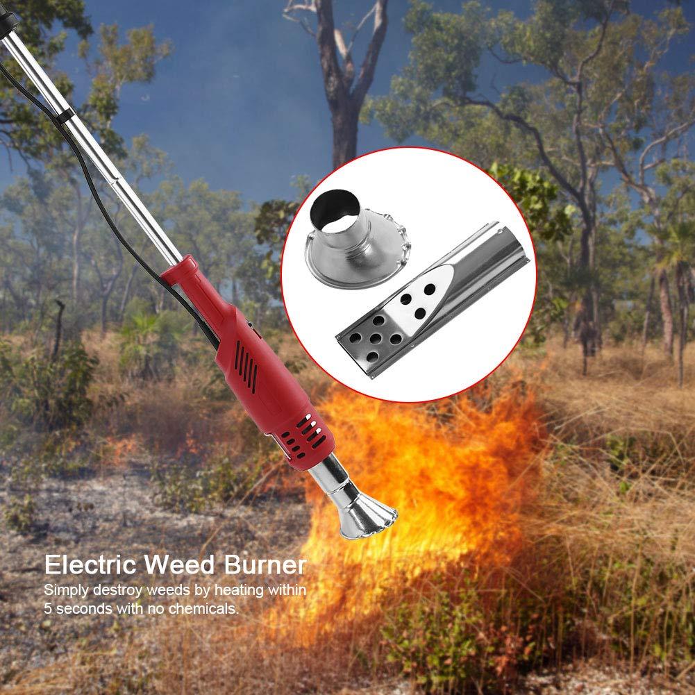 GOTOTOP 2 en 1 Quemador de Malezas de Hierba Eléctrico Sin Quimicos Respetuoso del Medio Ambiente 220V: Amazon.es: Jardín