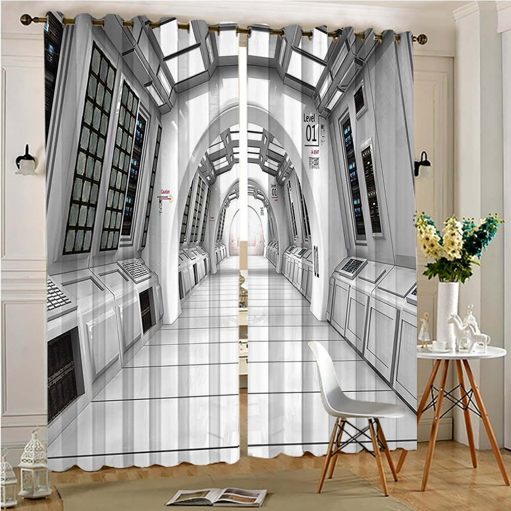 Curtains Thermal Insulated Grommet Drapes launch View with Hypertech Energy Stellar Extra Solar Nuclear Trip Image for Bedroom (2 Panels, 84'' x 84'')