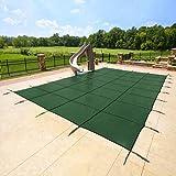 Yard Guard 20 x 40 Feet Rectangular Mesh Pool Safety Cover, Green | DG20405