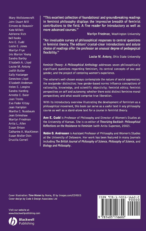 Feminist Theory: A Philosophical Anthology (Blackwell Philosophy  Anthologies): Amazon.co.uk: CUDD: 9781405116602: Books