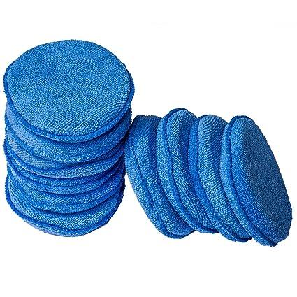 WildAuto Mikrofaser Wachs Applikator Auto Schaum Wachs Schwamm Applikator Pads - blau (5