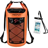 Piscifun Waterproof Dry Bag Backpack 5L 10L 20L 30L 40L Floating Dry Backpack with Waterproof Phone Case for Water…