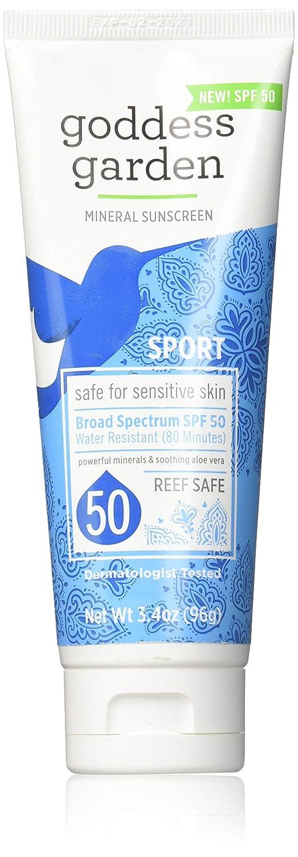 GODDESS GARDEN Sunscreen Sport SPF 50, 3.4 Ounce