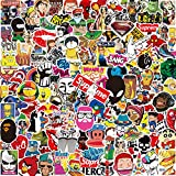 Stickers Pack [150-PCS] ,Q-Window Personalised Vinyl Graffiti Sticker Decals for Wall Laptop Car Kids Book Skateboard Motorcycle Bike Luggage Bumper Patches Snowboard IPhone Macbook PS4 Xbox One Nintendo Switch Bomb Reward Stickers,Waterproof and Suncare