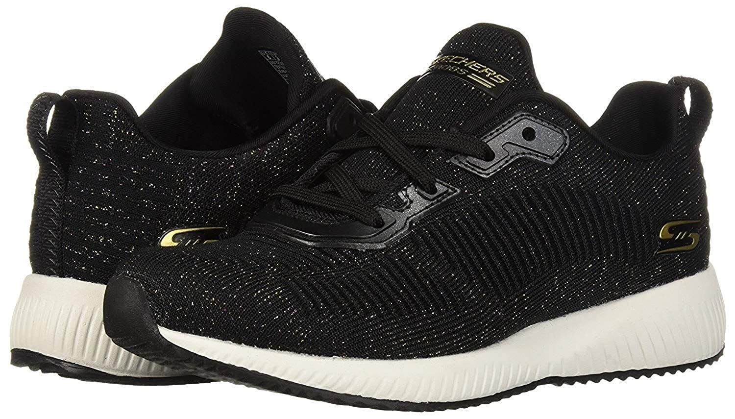 Skechers Bobs Squad Total Glam Black Multi Womens Trainers
