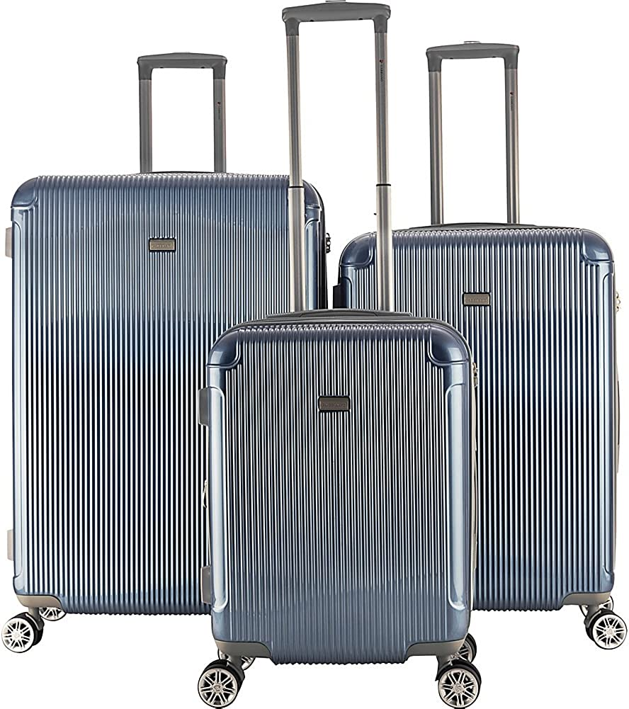 Gabbiano Genova 3 Piece Expandable Hardside Spinner Luggage Set