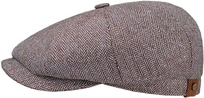 Stetson Gorra Newsboy de Seda Hatteras Mujer/Hombre - Made in The ...