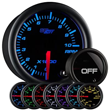 Amazon glowshift tinted 7 color 2 tachometer gauge automotive glowshift tinted 7 color 2quot tachometer gauge sciox Choice Image