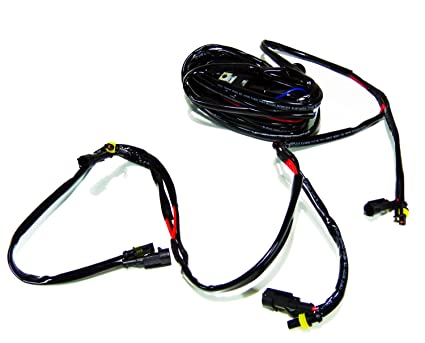 amazon com 400w 100w x 4 led light bar relay wire kit quad rh amazon com ATV Wire Parts ATV Wiring Harness Throttle Cable
