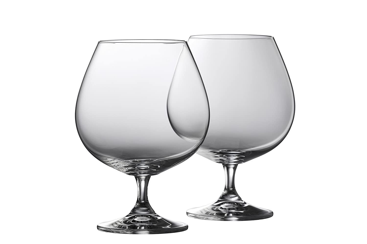 Galway Crystal Clarity Large balloon Brandy (Set of 2), Transparent, Set of 2 Belleek Pottery 60009/2