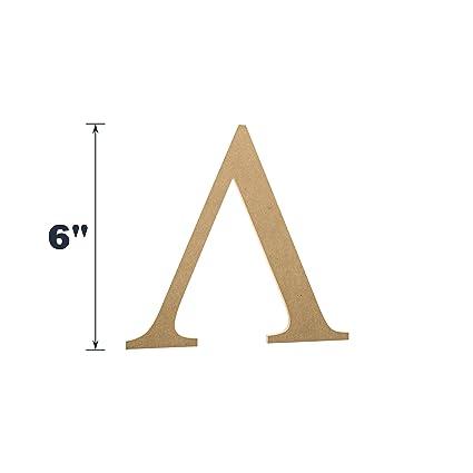 Amazon 6 Wooden Greek Letter Lambda Fraternitysorority