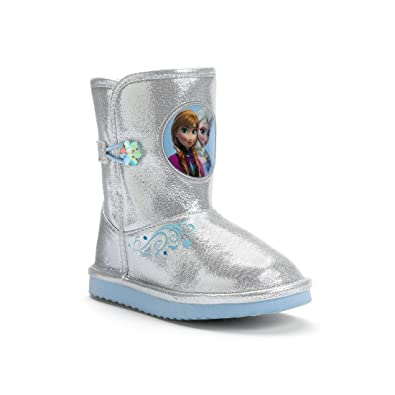 Amazon.com | Disney Frozen Elsa & Anna Toddler Winter Boots-Girls ...