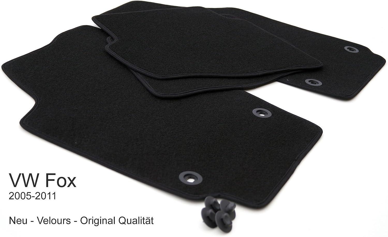 Kh Teile Fußmatten Passend Für Fox Velours Automatten Stoffmatten 4 Teilig Schwarz Auto
