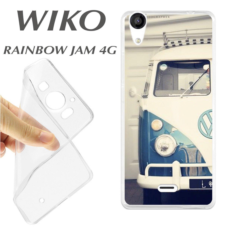 J248 WIKO RAINBOW JAM CARCASA FUNDA TPU VAN VW CLASSIC ...