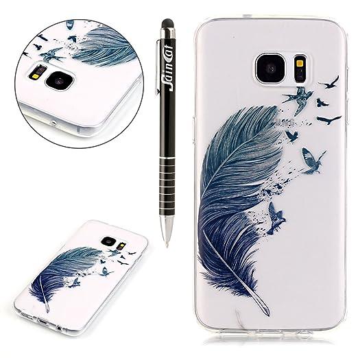 4 opinioni per SainCat Custodia per Samsung Galaxy S7 Edge Cover,Ultra Slim trasparente TPU