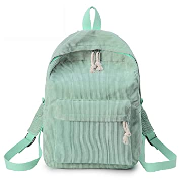 Amazon.com | Kavard Backpack Women Nylon Backpack Softback Solid Bag Handle mochilas Rucksack School Bag for girls, Green | Backpacks