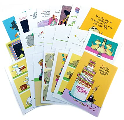birthday card assorted humorous pack of 24 cards 25 envelopes funny boxed birthday card - Birthday Card Packs