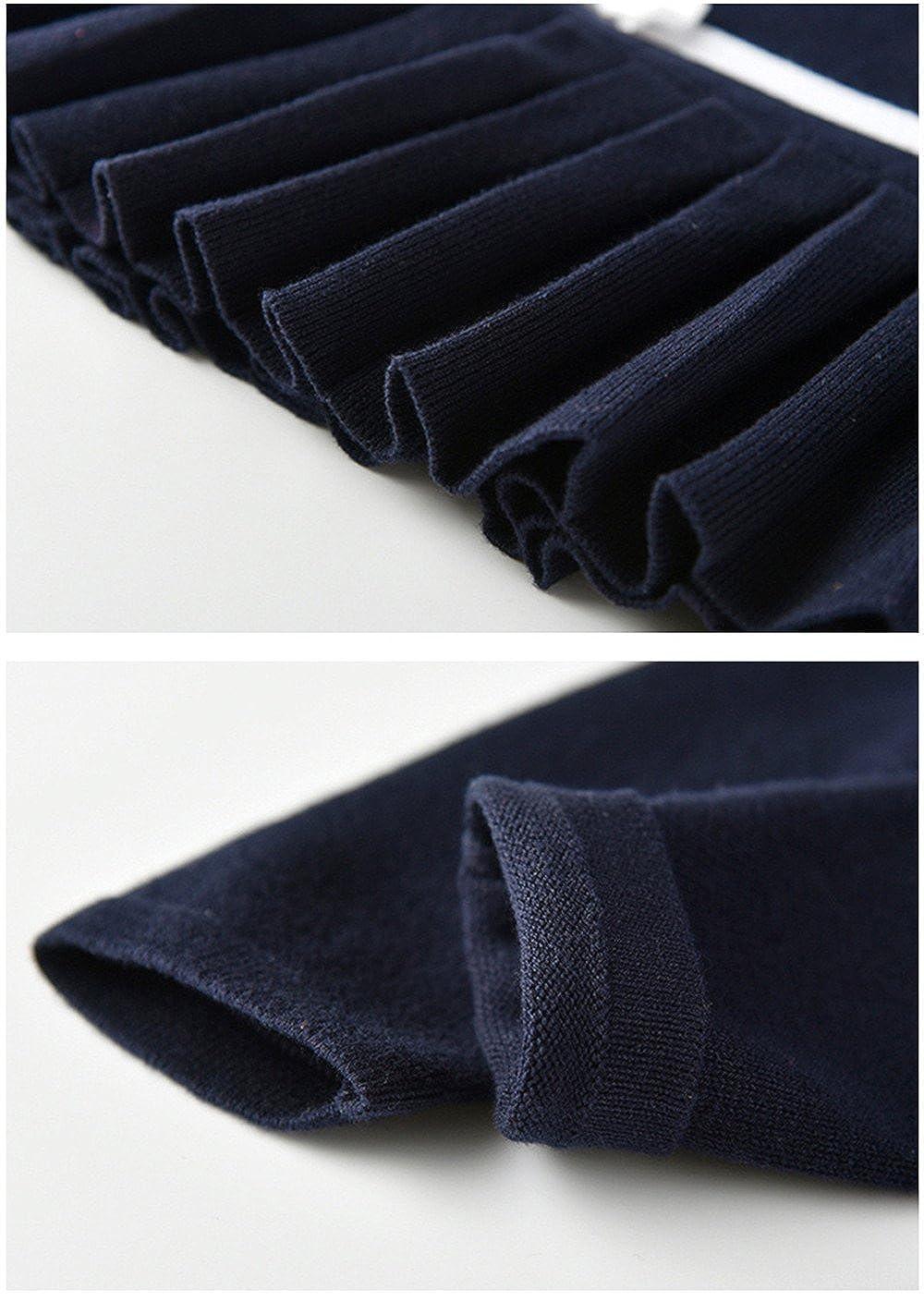 ZPW Little Girls Long Sleeve Pullover Striped Knit Sweater Dress