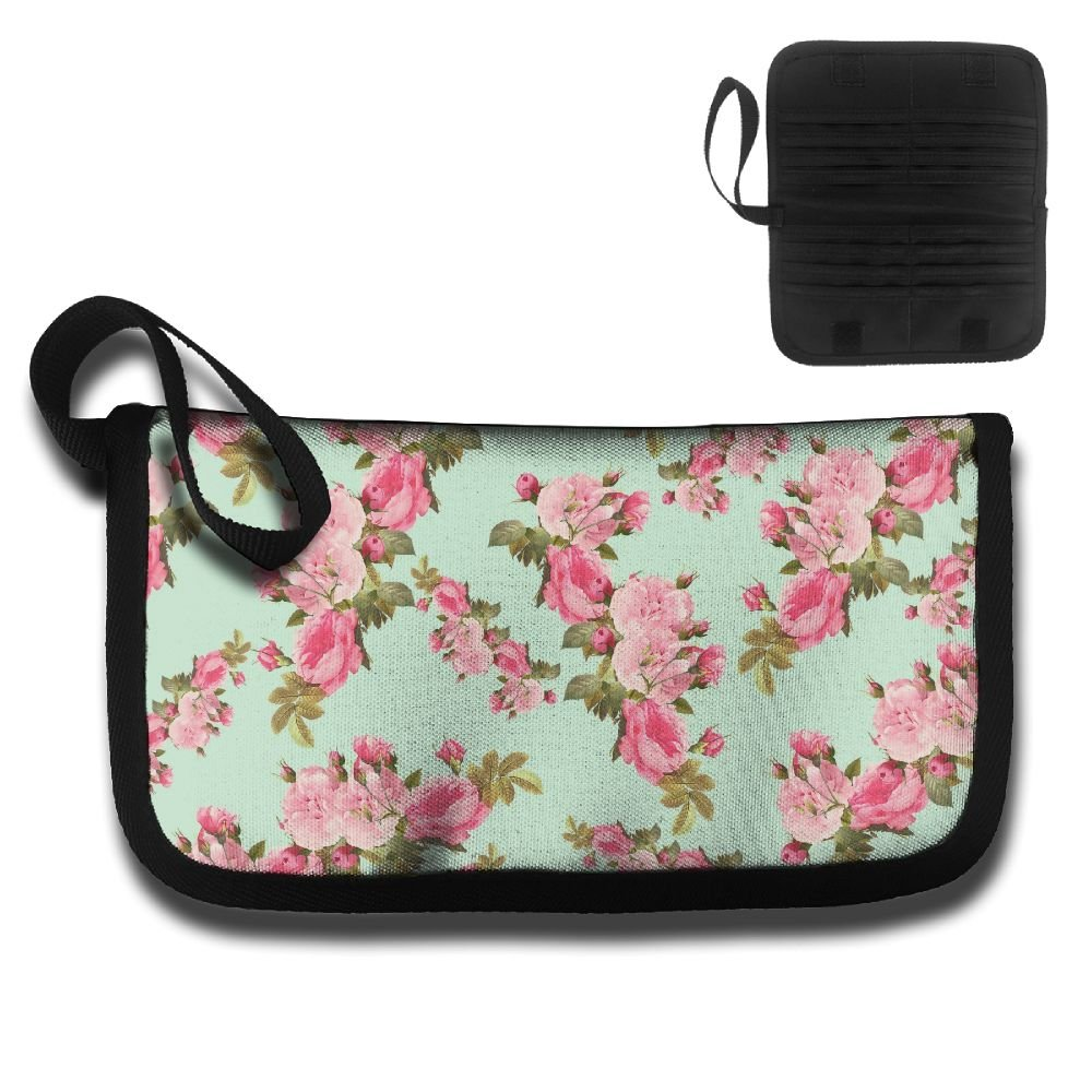 Gili Pink Flower Travel Passport /& Document Organizer Zipper Case