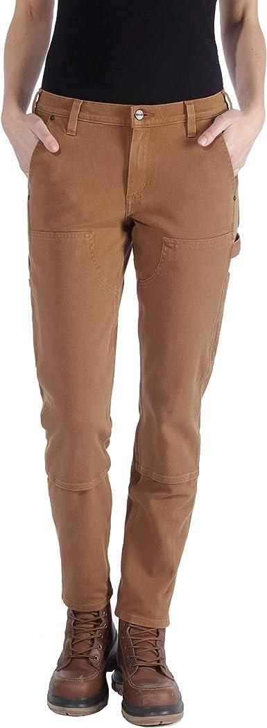 Carhartt Stretch Twill Double Front Trousers Pantalones De Trabajo Para Mujer Amazon Es Ropa Y Accesorios