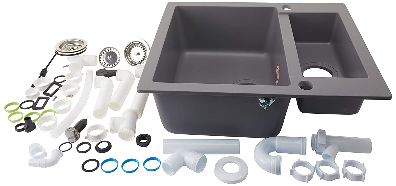 Teka 40148031 Tequarz Bowl Inset Kitchen Sink Clivo 60 S Tq Metallic on 60 kitchen stove, 60 kitchen countertop, 60 kitchen hood, 60 kitchen cabinet, 60 kitchen bench,