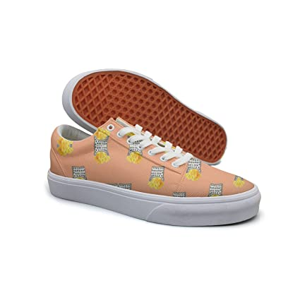Ouxioaz Womens Classic Shoes Love Ice Pop Ice Cream Shoe Lace Up