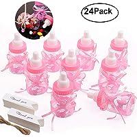 Gudotra 125 Packs 24pcs Biberones Bautizo Plastico Rosa