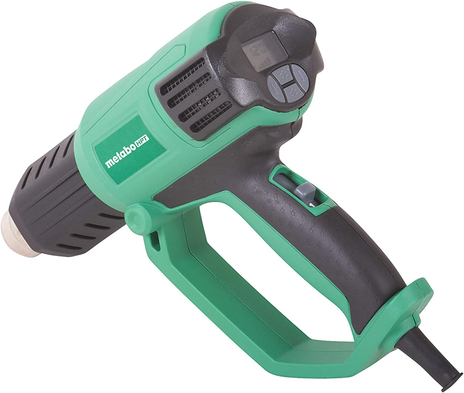 Metabo HPT Heat Gun, Variable Heat & Fan Settings, LCD Display, Includes Glass Protector Nozzle, Spreader Nozzle, Hook Nozzle, Concentrator Nozzle, Handheld Scraper, Storage Case (RH650V)