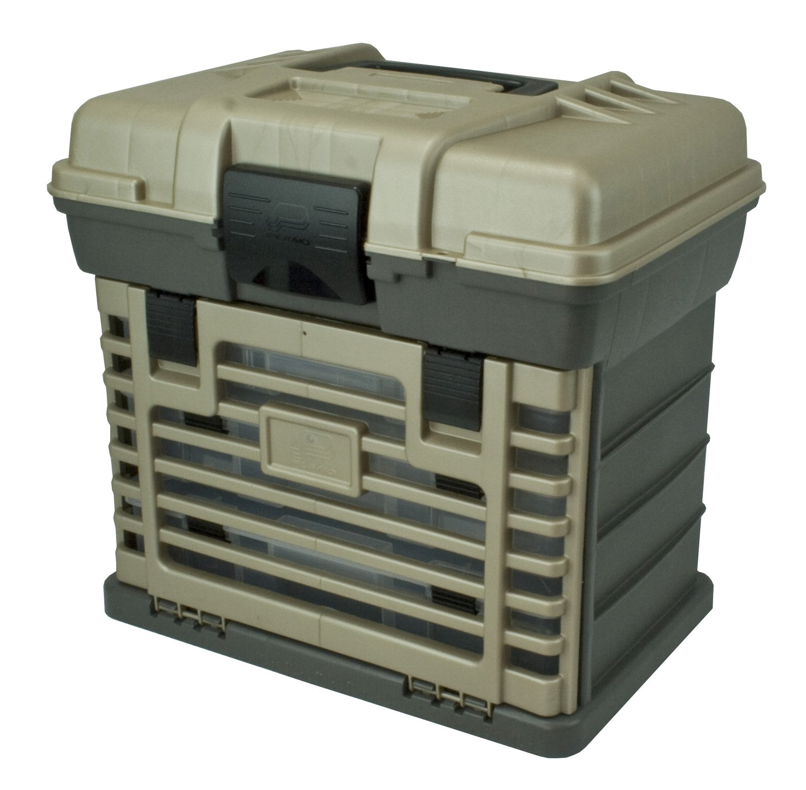 71ofNEltpxL - Plano Molding 1363 Stow N Go Toolbox, Graphite Gray and Sandstone