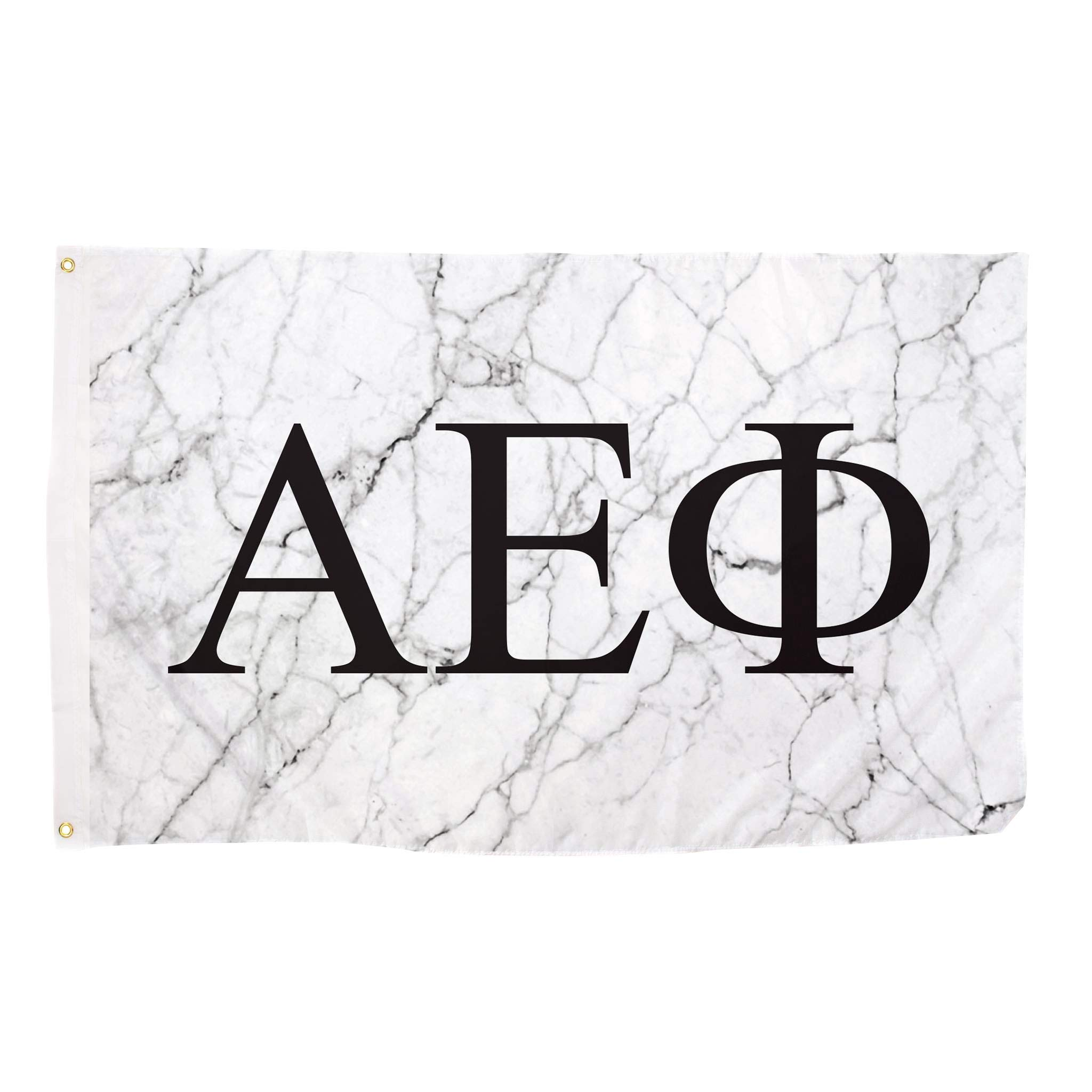 Alpha Epsilon Phi Light Marble Sorority Letter Flag Banner 3 x 5 Sign Decor A E Phi