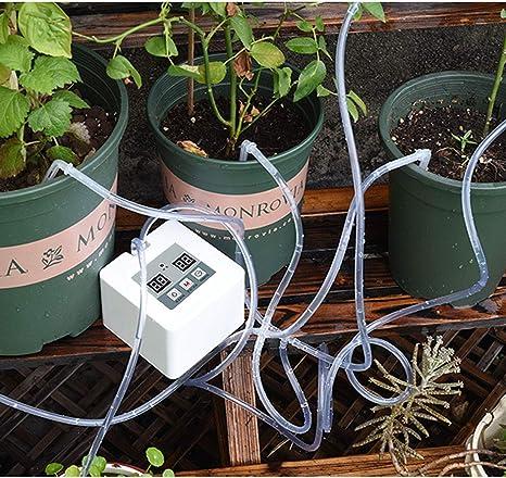 L/'eau d/'irrigation goutte à goutte automatique Fleurs Plante Système d/'irrigation jardin maison Outil
