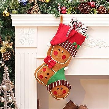 Antigüedades de alto nivel calcetines de Navidad grandes bolsas de regalo bolsas de regalo personalizado para los ancianos snowman calcetines: Amazon.es: ...