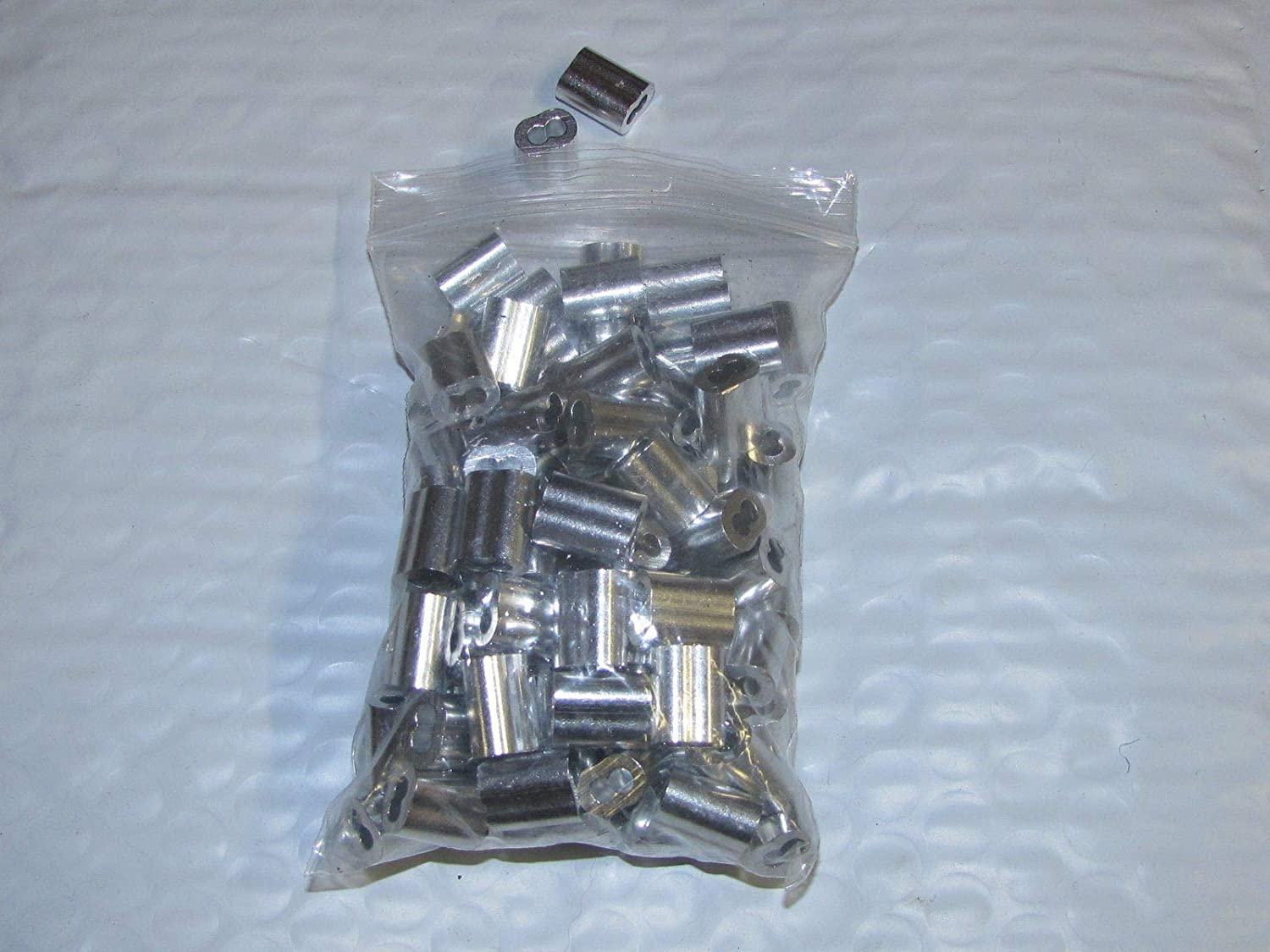 Montree Shop 3//32 Aluminum Cable Double FERRULES 1000 Snare Trapping Ferrule