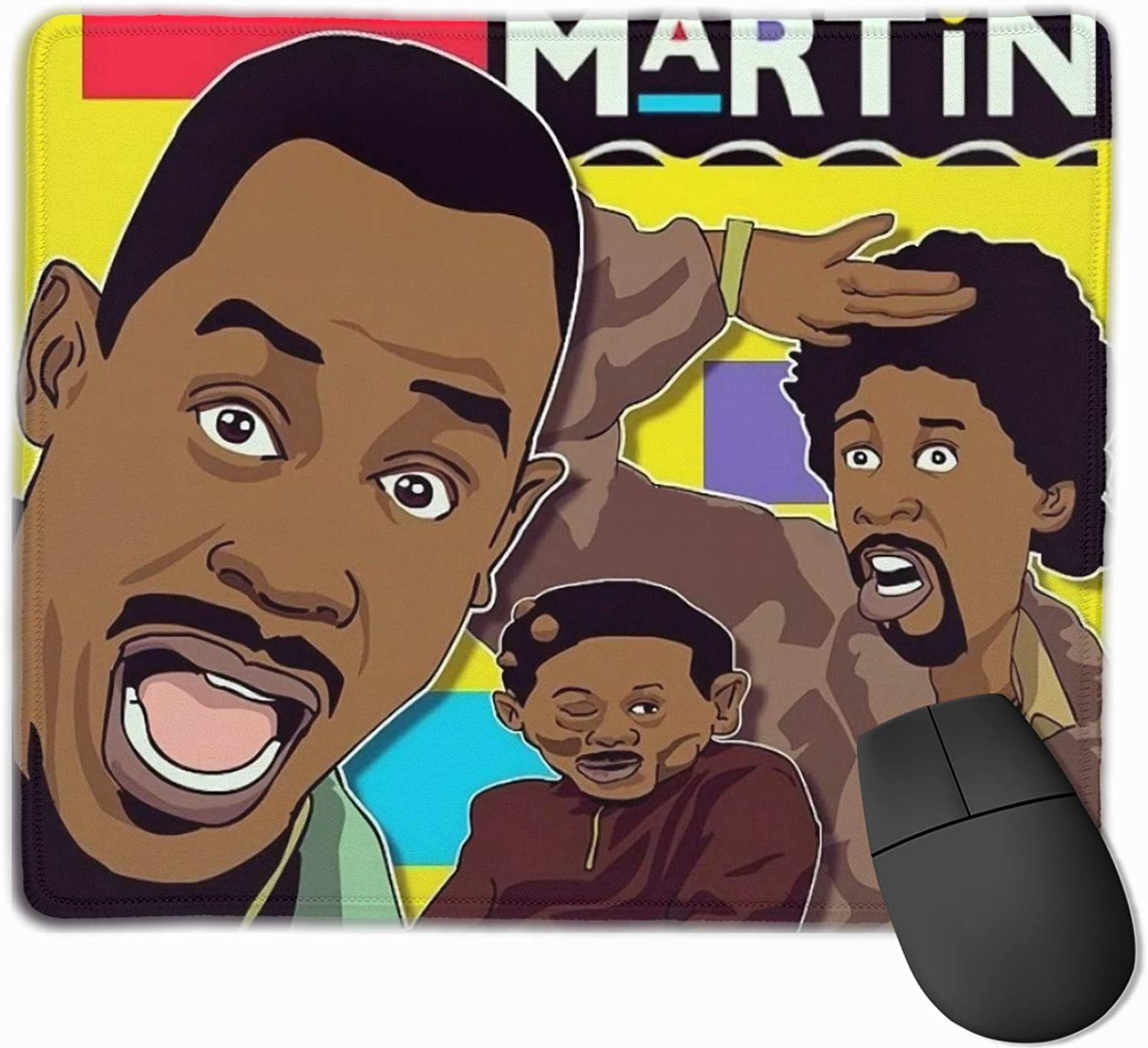 Meikosks Martin Lawrence Mouse Pads Customized Gaming Mousepads for Laptop and Computer Stitched Edges