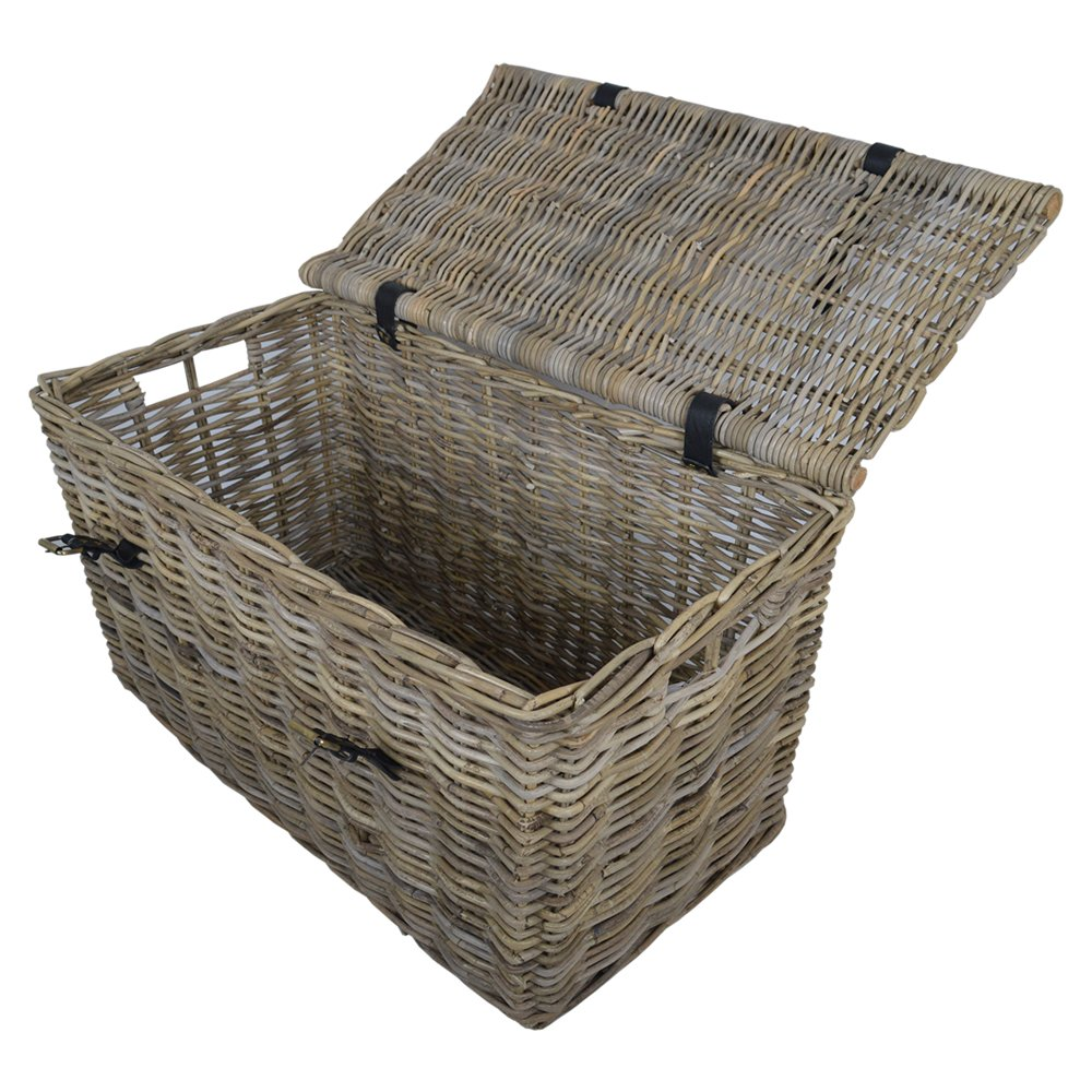 Cesta grande de mimbre Kubu Baúl/caja para juguetes/cesta de Navidad.: Amazon.es: Hogar