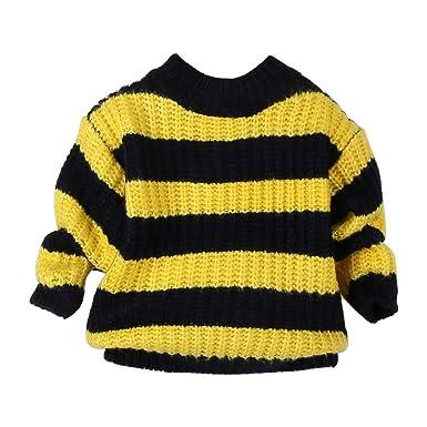 23e997328 Zerototens Toddler Kids Baby Boys Girls Knitted Sweater Yellow ...