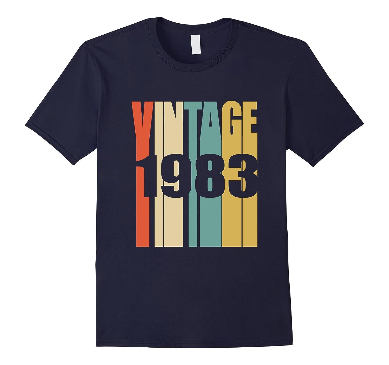 Retro Vintage 1983 T-Shirt 34 yrs old Bday 34th Birthday Tee-Vaci